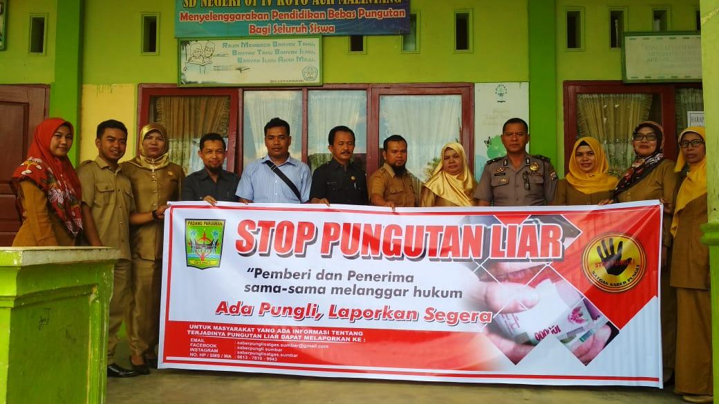 Satgas Saber Pungli Padang Pariaman Sosialisasi ke Sekolah-sekolah