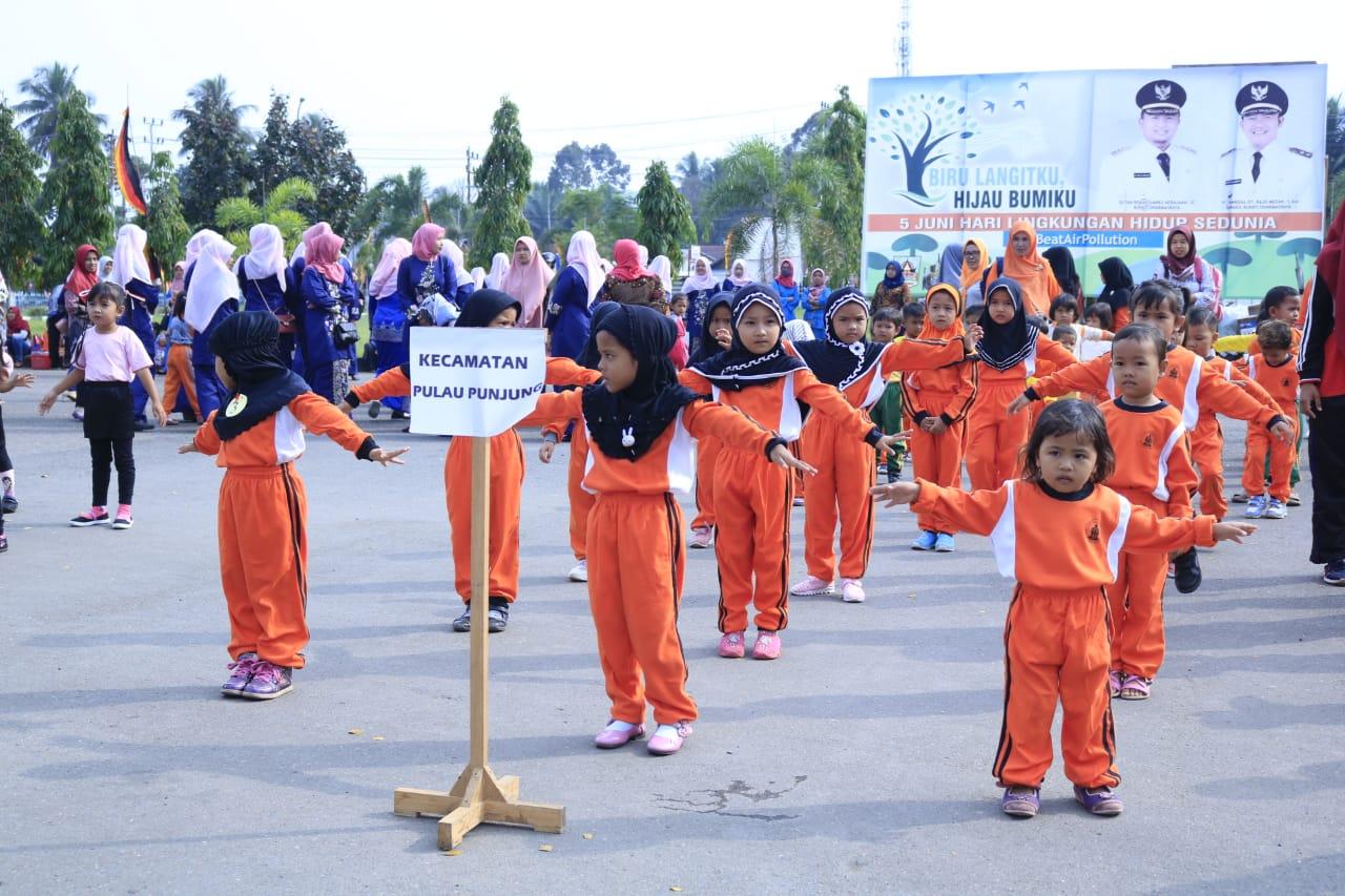 Ratusan Anak PAUD Senam Gemarikan