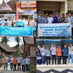Direktur Operasional Bank Nagari Serahkan Bantuan Banjir dan Longsor Solsel
