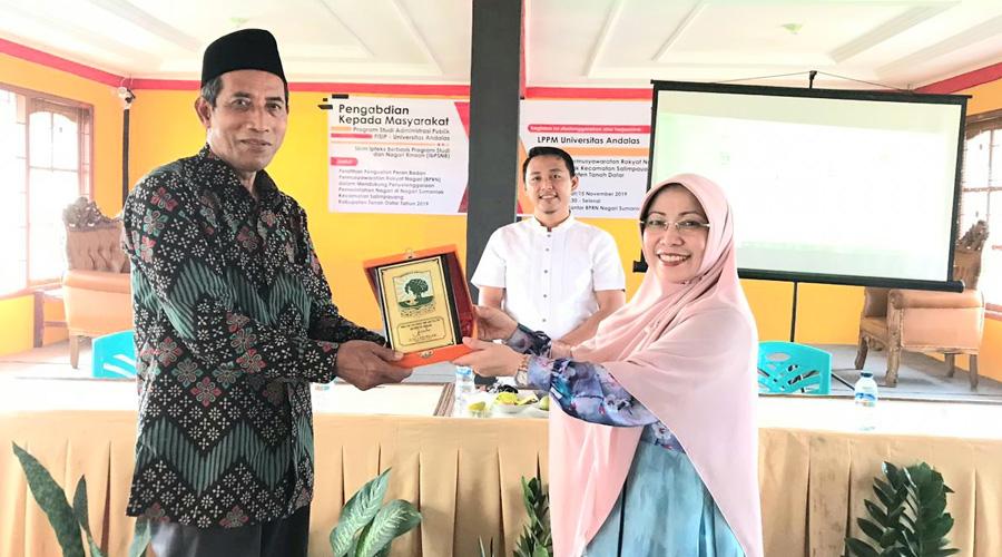 Jurusan Administrasi Publik Fisip Unand Gelar Pengabdian Masyarakat di Sumanik