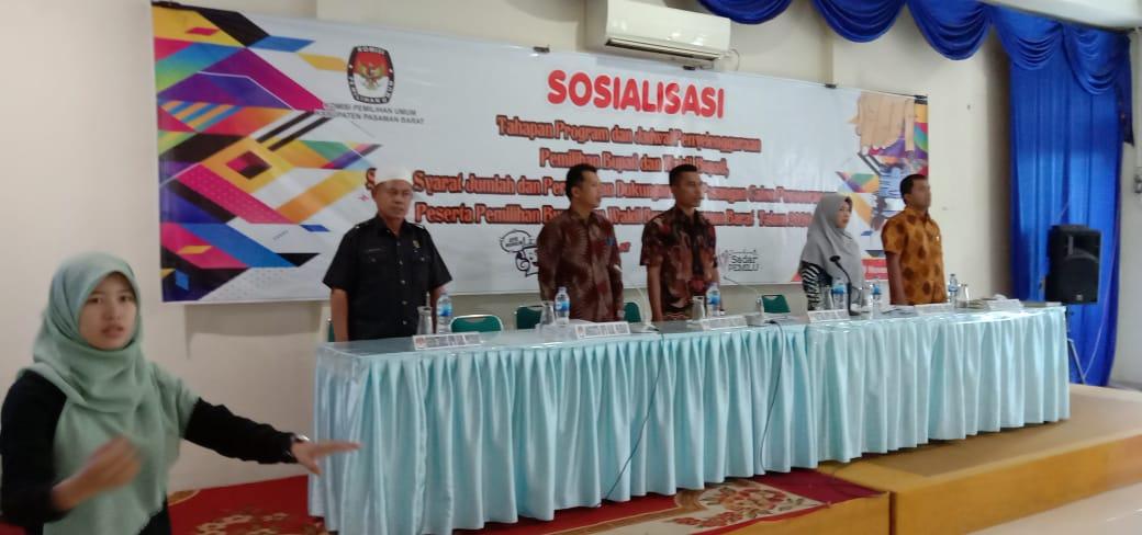 KPU Pasbar Sosialisasikan Tahapan dan Jadwal Pilkada 2020