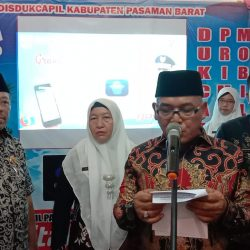 Disdukcapil Pasbar Launching Aplikasi Go Digital Prima Mobile