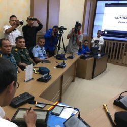 Gubernur Irwan Prayitno Sapa 4 Kabupaten/Kota dari Posko Sumbar Command Center