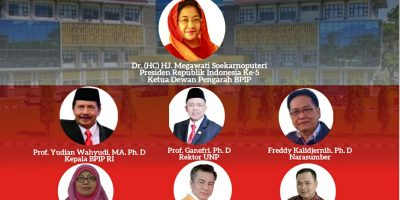 Diikuti 3335 Peserta se Indonesia, PKP UNP Gelar Webinar Peringati 76 Tahun Kelahiran Pancasila