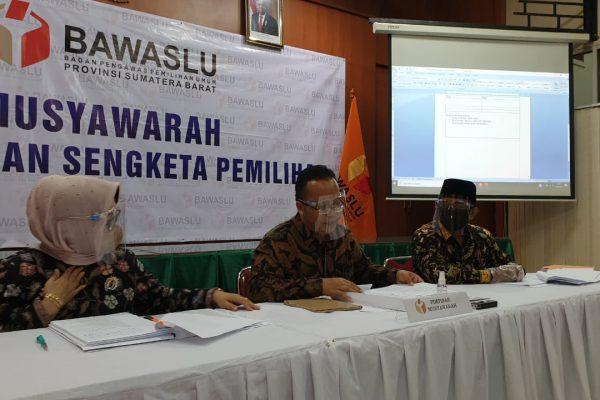 KPU tak Hadiri Mediasi Sengketa Calon Perseorangan Pilkada di Bawaslu Sumbar