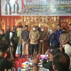 Cagub Sumbar Fakhrizal Disambut Doa dan Yel Kemenangan di Padang Panjang