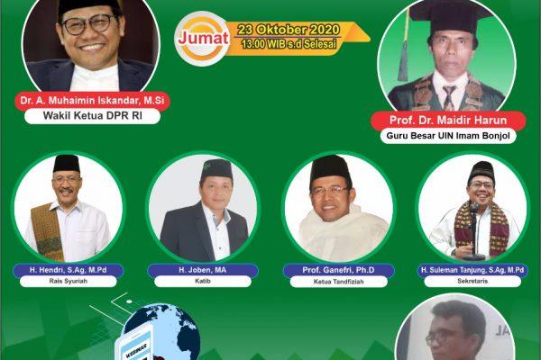 Gelar Webinar Akbar di Hari Santri, PWNU Sumbar Hadirkan Cak Imin dan Maidir Harun