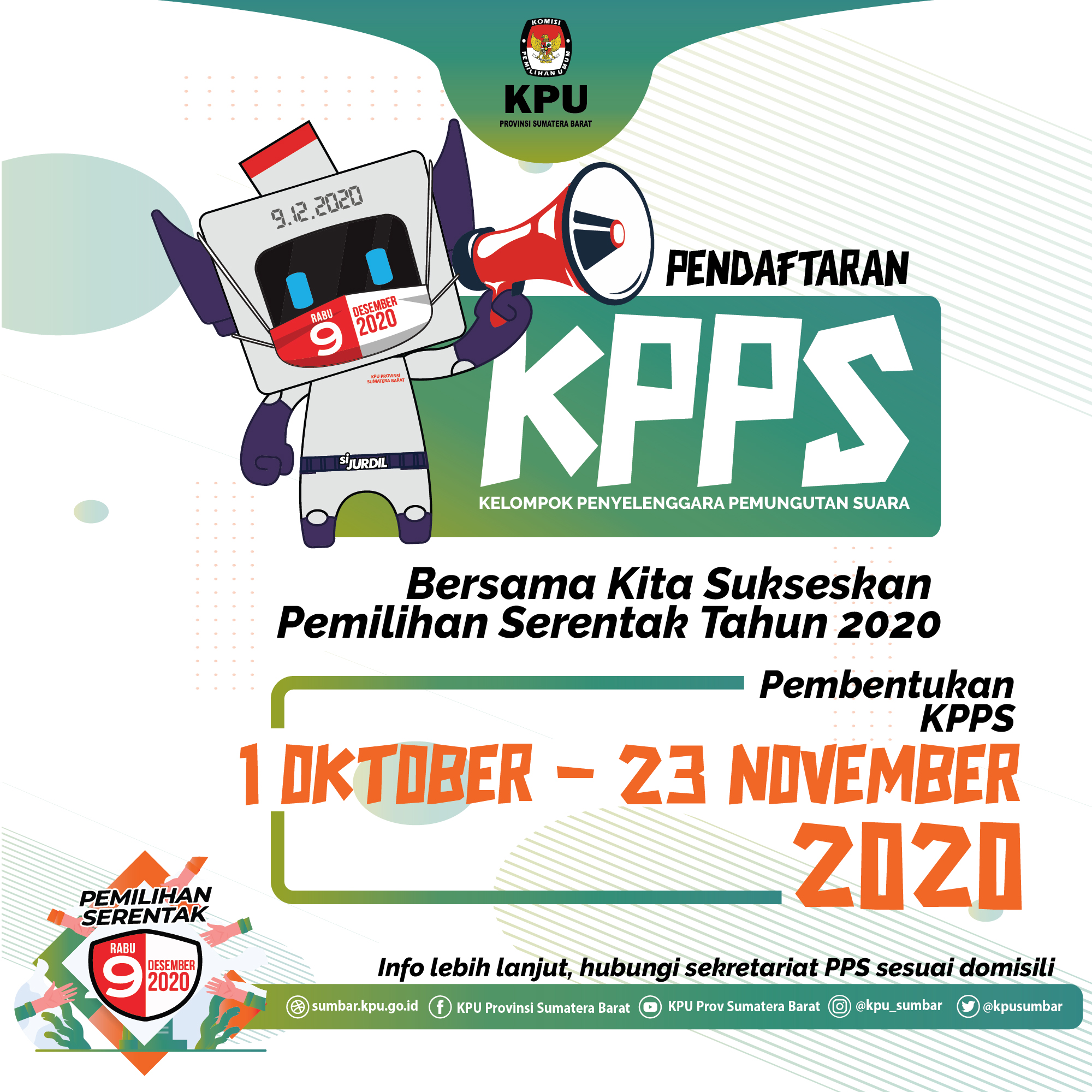 PENDAFTARAN KPPS PILKADA 2020