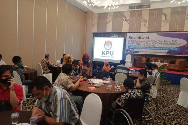 KPU Sumbar Masivkan Sosialisasi Pilkada Pada Pemilih Penyandang Disabilitas
