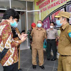 Wako dan Kadis PMD Sumbar Pantau Pilkades Serentak Kota Sawahlunto