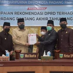 Wako Fadly Amran akan Tindaklanjuti Rekomendasi DPRD Padang Panjang