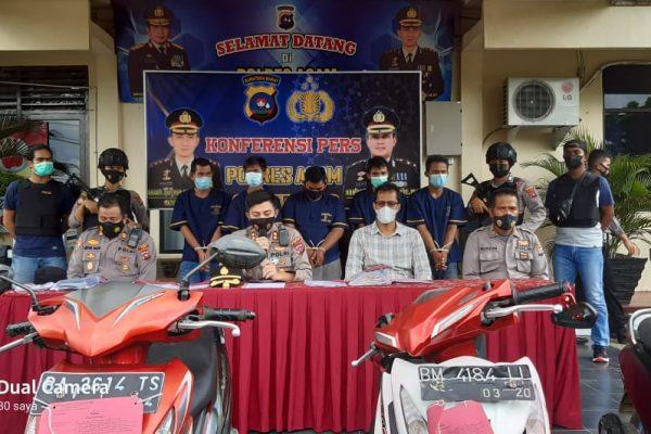 Gelar Operasi Sikat, Polres Agam Berhasil Ungkap Kasus Curanmor