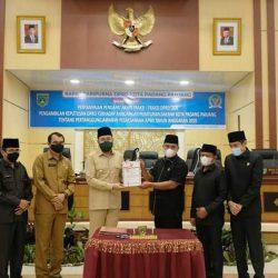 DPRD Padang Panjang Sahkan Ranperda Pertanggungjawaban APBD 2020 Jadi Perda