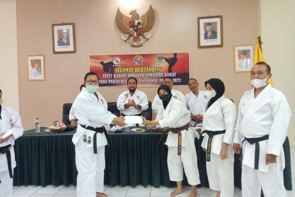 Yozarwardi Lepas 2 Karateka dan 1 Pelatih asal Lemkari Menuju PON Papua