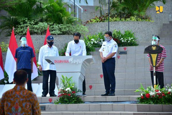 Diresmikan Presiden Jokowi, Rusun Pasar Rumput Dengan Keistimewaan Konsep Terpadu