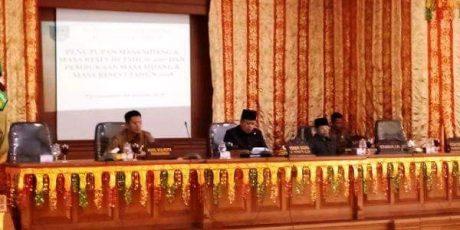 Paripurna Perdana DPRD Payakumbuh di 2018