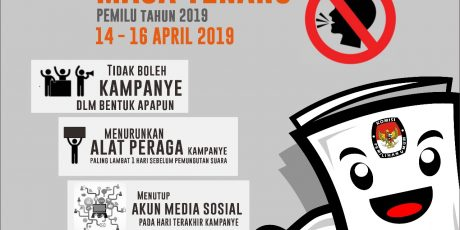 Jadwal Masa Tenang Pemilu 2019. Tanggal 14-16 April 2019