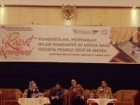 KPU Sumbar Gelar Rakor Pemberitaan dan Iklan Kampanye di Media Bagi Peserta Pemilu 2019